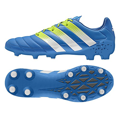 Adidas Mens Asso 16.1 Fg / Ag Pelle Shock Blu / Melma Solare / Bianco