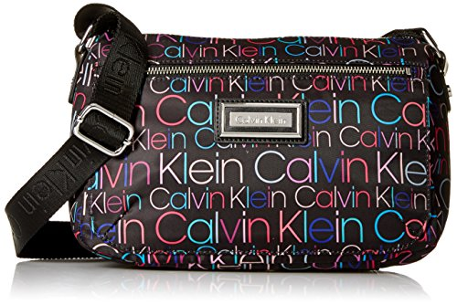 Calvin Klein Belfast Nylon Key Item Small Crossbody, Black/Multi