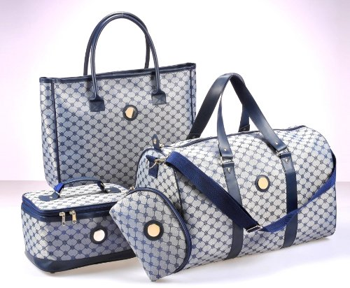 Travel Luggage Set 4 piece Weekend Bag Vanity set Holdall Make up ...