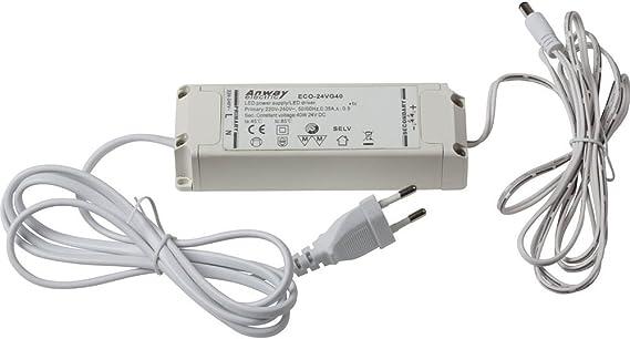 LED Vorschaltgerät 15W 24V DC inkl 2m  Anschlusskabel Eurostecker 12-fach  Ve