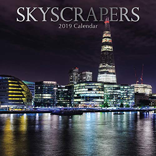 (2019 Wall Calendar - Skyscrapers Calendar, 12 x 12 Inch Monthly View, 16-Month, Scenic City Skylines Theme, Includes 180 Reminder)