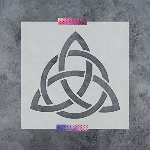 - Celtic Triquetra Knot Stencil Template - Reusable Stencil with Multiple Sizes Available