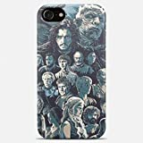 Inspired by Game of thrones phone case Game of thrones iPhone case 7 plus X XR XS Max 8 6 6s 5 5s se Game of thrones Samsung galaxy case s9 s9 Plus note 8 s8 s7 edge s6 s5 note 9 gift art cover snow