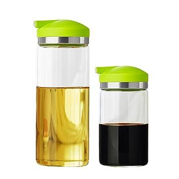 GARDEN botellas del condimento Botella de aceite de vidrio Salsa de fuga Set de vinagre de