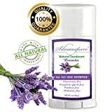 Natural Deodorant Stick Aluminum Free Lavender 2.9 oz Healthy Deodorant | GMO-Free | 100% Non-Toxic Deodorant | All Day Protection | Non Irritating | Non Sticky | Great Smelling Lavender Scent