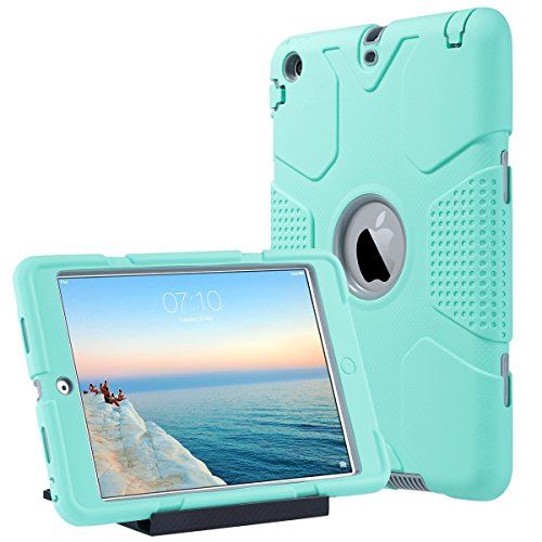 Shockproof Heavy Duty Armor Case for Apple iPad Air 2 (Green) - 4