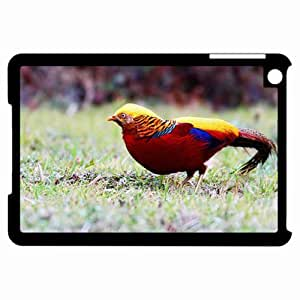 Customized Back Cover Case For iPad Mini Hardshell Case, Black Back Cover Design Golden Pheasant Personalized Unique Case For iPad Mini