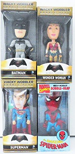 Wacky Wobbler Superhero Set Of 4-Spiderman, Superman, Wonderwoman and Batman 6