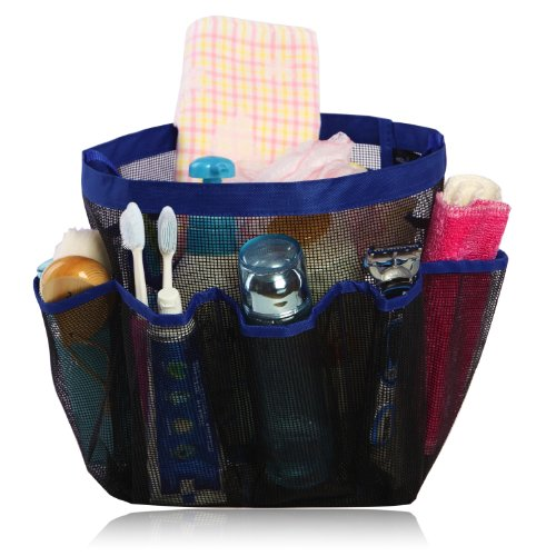 miQQi Living Large Pockets Shower Caddy for Bathroom Accessories & Mirror - Standard Packaging - Blue by miQQi Living (Image #2)