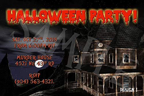 Halloween Adults Personalized Party Invitations MORE DESIGNS INSIDE! -