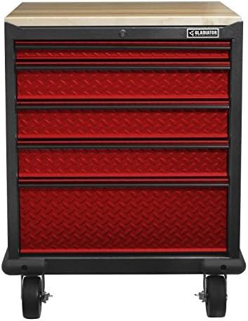 Gladiator GAGD275DDR Premier Modular Steel Cabinet, Red Tread
