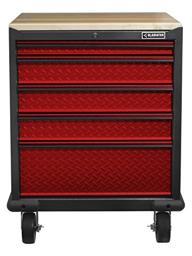 Gladiator GAGD275DDR Premier Modular Steel Cabinet, Red Tread
