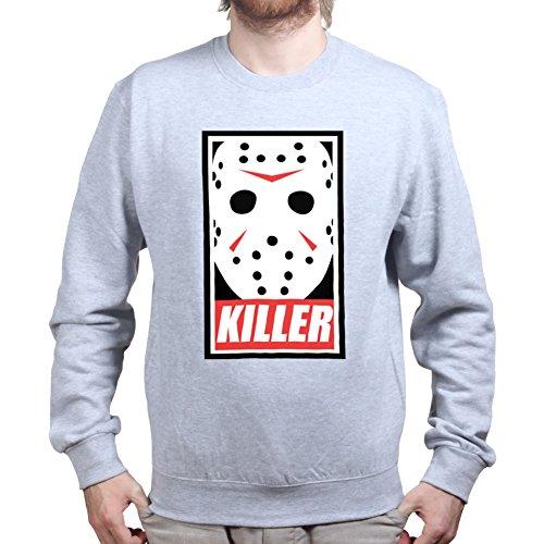 Customised_Perfection Mens Jason Voorhees Killer Halloween Sweatshirt L Sports Grey]()