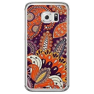 Loud Universe Samsung Galaxy S6 Edge Colorful Paisley 2 Printed Transparent Edge Case - Multi Color