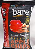 Bare Fruit Apple Chips - Organic - Crunchy - Simply Cinnamon - 3 oz - case of 12