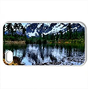Mountain glory - Case Cover for iPhone 4 and 4s (Mountains Series, Watercolor style, White) by icecream design