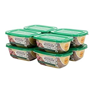 Rachael Ray Nutrish Natural Wet Dog Food, Rustic Duck Stew with Green Beans, Carrots & Brown Rice, 8 oz tub, Pack of 8