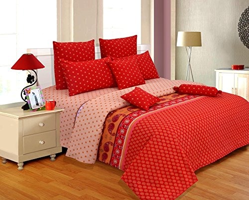Salona Bichona Bedsheets Cotton King Bed Size Tapestry Bed Cover Red Bed  Sheets   Buy Online In Oman. | Kitchen Products In Oman   See Prices, ...
