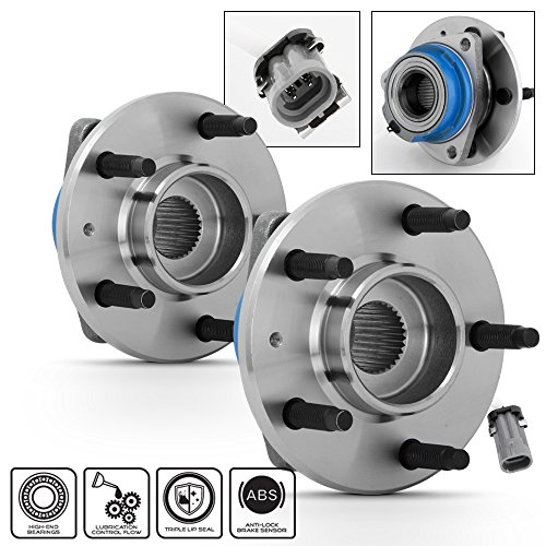 (For 2003-2007 Cadillac CTS / 2005-2011 Cadillac STS ABS Models Pair of 512223 Rear Wheel Hub Bearings Replacement w/ABS)