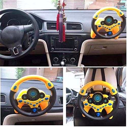 vmree New Kid Copilot Simulated Steering Wheel Racing Driver Toy Educational Sounding (A) (Kids Steering Wheel For Car)