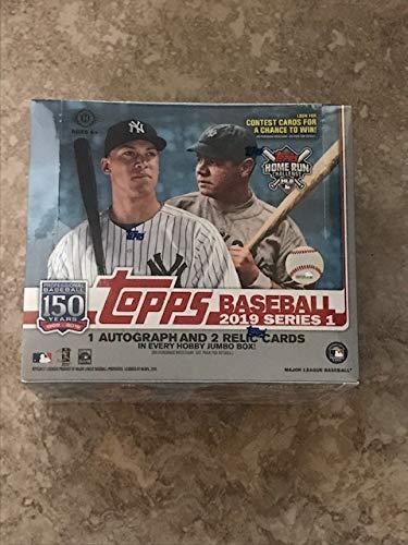 2019 Topps Series 1 Baseball Jumbo Box (1 Auto, 2 Relics, No Silver Packs) ()