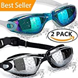 ALLPAIPAI Swimming Goggles Swim Goggles, Pack of 2 Professional Anti...