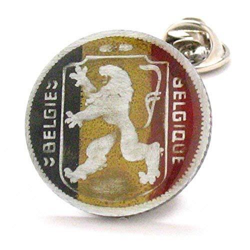 Belgium Coin Tie Tack Lapel Pin Vintage Knight Belgie Belgique juwelen Reversspeldje Brussels Antwerp
