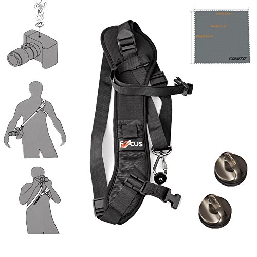 Fomito Quick Rapid Shoulder Sling Belt Neck Strap & 2pcs Screw Mount for Camera DSLR SLR DV - Neck Camera Dslr Strap