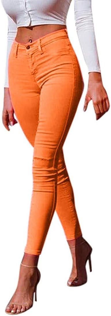 Zezkt Skinny Pantalones Mujer Color Caramelo Pitillo Lapiz Pantalones Moda Casual Flacos Pantalon Cintura Alta Sexy Pants Slim Fit Leggings Mujer Adelgazan Leggins Amazon Es Ropa Y Accesorios