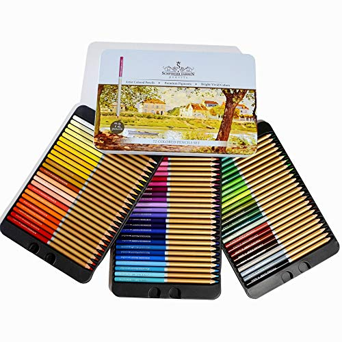Professional Premium numbered 72 Colored Pencils Set Schpirerr Farben