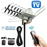 TV Antenna, Vansky Outdoor Amplified Digital HDTV Antenna 150 Mile 360 Rotate Support