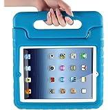 MYCARRYINGCASEキッズArmorBoxキックスタンドカバーケース (iPad2; 新しいiPad3; iPad 4 Retinaディスプレイ, Blue 青)