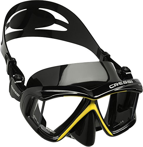 Cressi Panoramic 4 Window Dive Mask -