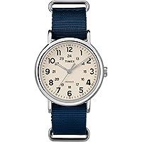 [Patrocinado] Timex TW2T29200 - Reloj de pulsera para hombre (nailon, 40 unidades), color azul y crema