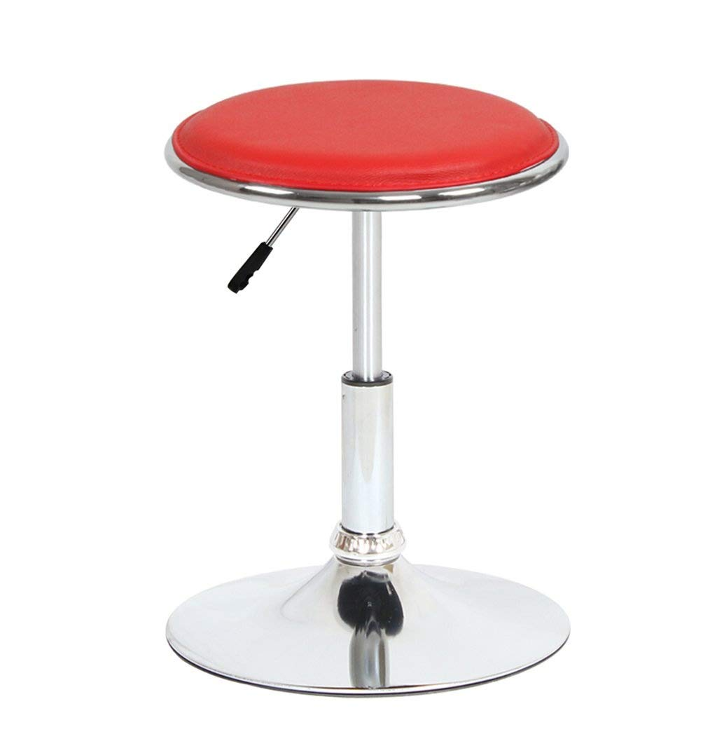 Red Bar Stools Computer Chair -Beauty Stool redating Lift Barstool Can Lift JINRONG (color   orange)