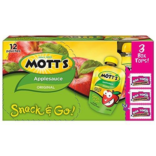 (Mott's Snack & Go Original Applesauce, 3.2 oz pouches (Pack of 48) by Mott's)
