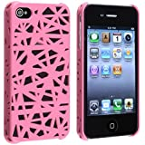 eForCity Snap-On Case for Apple iPhone 4/4S - Retail Packaging - Pink