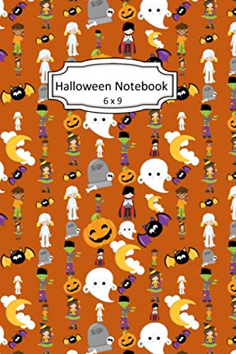 Cute Halloween Pumpkin Clipart (Halloween Notebook: Cute Clip Art Images on 6 x 9 Blank Lined Softcover Journal for Notes , Halloween Gift Design Cover Note)