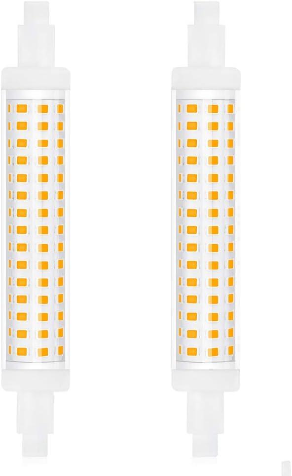 Bonlux 15W No Regulable Bombilla LED R7S Lineal Slim 118MM J118 Blanco Neutro 4000K con 1300LM, 360 Grados (2-Unidades)