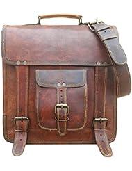 Maison De Cuir 12 Leather Messenger Bag Convertible Backpack Shoulder Bag Laptop Bag