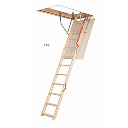 optistep wooden timber folding loft ladder attic stairs frame size w60cm x l120cm h up