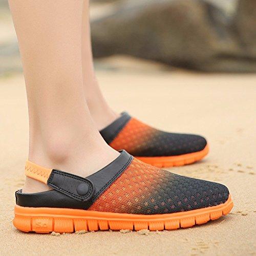 estate Nuovo prodotto Uomini Spiaggia Buco scarpa Coppia sandali Taglia larga Tempo libero sandali Coppia tendenza sandali Uomini ,arancia,US=7,UK=6.5,EU=40,CN=40