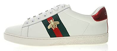 Gucci Embroidered Flache Little White Herren Bee Damen Schuhe Ace D9HEI2