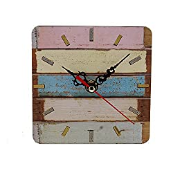 Succper Square Roman Numeral Wall Clock Shabby Chic and DIY Home Decor Accents for The Kitchen Living Room Bedroom Battery Operated