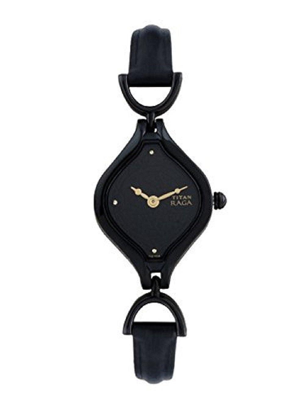 43065f9e40b10 Titan Raga Analog Black Dial Women's Watch -NK2531NL01