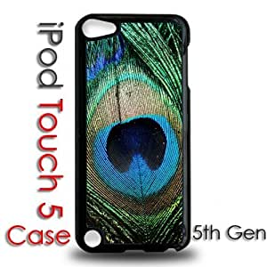 IPod 5 Touch Black Plastic Case - Peacock Feather