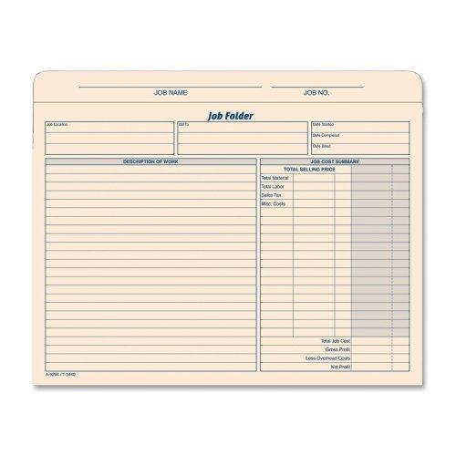 Manila Job Jackets (TOPS Job Folder File Jackets, 11.75 x 9.5 Inches, Manila, 20-Pack)