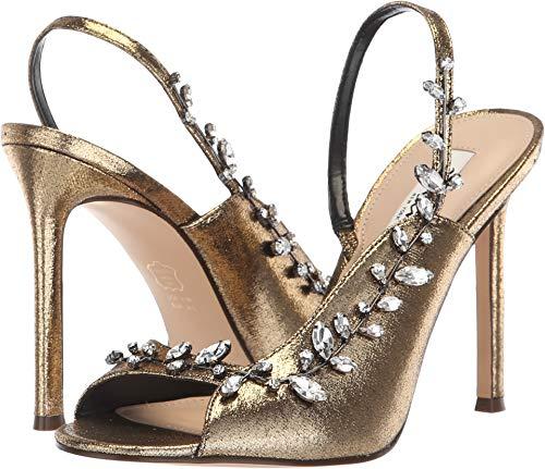 Antique Gold Footwear - NINA Women's Deanne Antique Gold Metallic Fabric 8 M US M