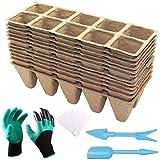 ARLBA Seed Starter Tray Peat Pots Kit,12 Pack