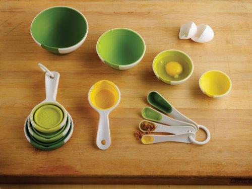 Chef'n SleekStor Pinch Pour Prep Bowls, Trend Color Set
